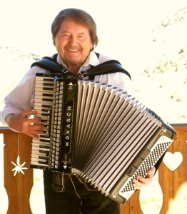 Jerry Perchacz with his Accordian